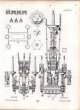Gothic Lubeck Candelabrum Of Brass In Naval Of Dome