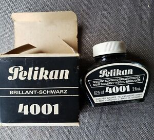 Pelikan Brilliant Schwarz 4001 Noir Black Ink 2 Oz.