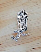 Sterling Silver 3D 20x10mm Detailed Eagle Bird Animal Charm