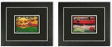 2 Bilder Friedensreich Hundertwasser Galeriebilder mit Rahmen SONDERPREIS