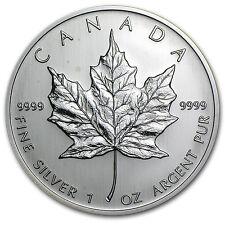 2004 Canada 1 oz Silver Maple Leaf BU - SKU #71
