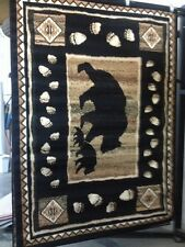 BLACK BEAR COMBO OF 2- 5x8 BEAR RUGS FOR THE HOME