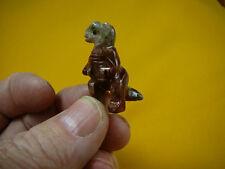 (Y-Din-Ty-2) T-Rex Tyrannosaurus dinosaur carving Soapstone Figurine love dinos