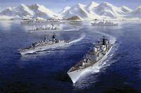 HMS London HMS Edinburgh Royal Navy Type 42 Destroyer Type 22 Painting Art Print