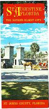St Augustine Florida The Nation's Oldest City St Johns County Vintage Brochure