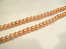 100+ pcs x Glass Pearl 8mm Round Beads: #85A Mel Orange
