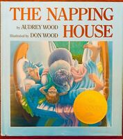 RARE The Napping House by Audrey Wood (1984, Hardcover, w/ NY Times Winner Seal)