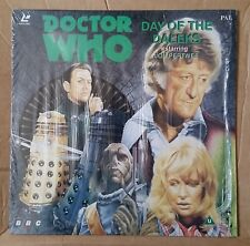 Dr Doctor Who Day Of The Daleks BBC Laser Disc Jon Pertwee Katy Manning + Insert