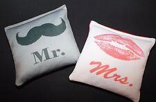 MR & MRS CORNHOLE BEAN BAGS 8 ACA Regulation All Weather Wedding Game Toss Bags