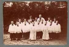 PHOTOGRAPHIE XIXEME SIèCLE - GROUPE ABBé - ENFANTS DE CHOEUR ET SACRISTAIN - E