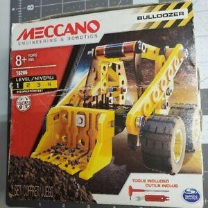 STEM Meccano Bulldozer Building Toy Kit Set Creative Learning Metal
