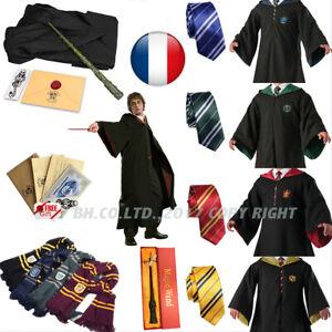 HarryPotter Halloween Robe Cape Costume Chapeau Cravate écharpe Cosplay Carnaval