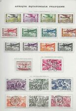 Lot timbres oblitérés Afrique Equatoriale Française poste aérienne Du N°31 au N°