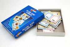 Vintage My Picture Word  Dominoes Galt Toys Flash cards Simple Words 70s