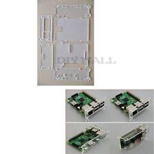 DIYmall RPi Clear Acrylic Case Enclosure Box for Raspberry Pi 3 2 / B+ 512 Rev3
