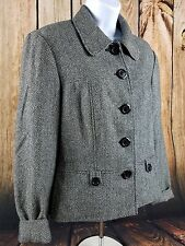 Conrad C Collection Wool Blend Large Button Front Jacket Size 8
