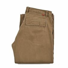 MUSTANG Women's Jeans Size W28 L32 Brown Zip fly Flared Wide Leg Authentic