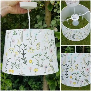 IKEA Floral Print Light Lampshade Bedroom Living Cottage Core W28 cm x H19 cm