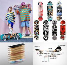 Skateboard 31'' Cruiser Funboard Komplette Ahornholz Longboard Kinder ABEC-7 DHL