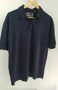 Cutter And Buck Nanotex Fabric Black Polo Shirt Sz L