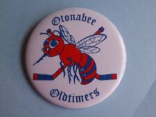 OTONABEE OLD TIMERS HOCKEY TEAM VINTAGE BUTTON PIN CANADA