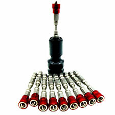 1/2in Drive To 1/4in Hex Impact Adaptor + 10x Ph2 65mm Magnetic Bit Drywall Bits