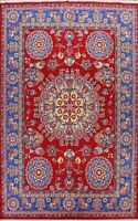 Vegetable Dye Bakhtiari Hand-knotted Area Rug Floral Oriental Wool Carpet 10x14