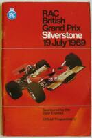 BRITISH GRAND PRIX 1969 FORMULA ONE SILVERSTONE Official Race Programme