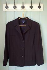 Ann Taylor Womens Size 10 Medium Solid Black Blazer Jacket Pockets Career Work