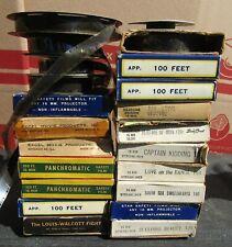 Lot of 20 Vintage 16mm Films,Royal Wedding,Heritage of India,Sleeping Beauty,etc