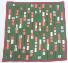 Vintage Scarf Mod Green Deco Frogger Abstract art New york pink peach
