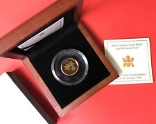 2001 $10 Maple Hologram .9999 Fine Gold Mapleleaf 1/4 oz Canada