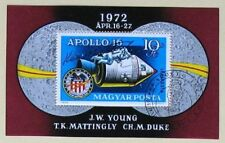 s1487) Raumfahrt Ungarn Apollo 16 Gedenkblock mit Autogramm Ken Mattingly