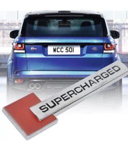 "1 X METAL "" SUPERCHARGERED "" CAR EMBLEM BADGE STICKER DECAL"