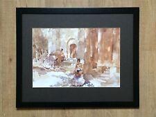 William Russell Flint print, Church Argilliers, RA wall art, 20''x16'' frame