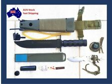 New Black Jungle King 1 Hunting Camping Military Knife with Survival Kit Sling S
