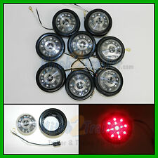 """(8) CLEAR LENS / RED 13 LED Light Trailer 2-1/2"""" round,Clearance marker 2.5"""""""