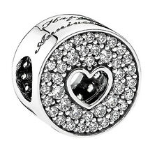 Authentic Pandora Charm Sterling Silver 791977CZ Anniversary Celebration