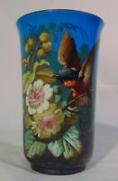 Antique Continental Porcelain Hand painted Vase French Bohemian Bird Flowers