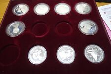 Set of 9 silver COINS Royal Wedding Lady DI 1981 and CANADA