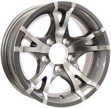 2-Pack Trailer Rim Wheel 14X5.5 5-4.5 Spoke Aluminum Black Pinnacle 2200 Lb.
