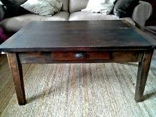 Couchtisch Wohnzimmertisch Tisch antik ca. 1920   Massivholz Holz  4 Schubläden
