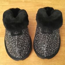 59dc029f6f3 UGG Coquette Slippers Frill Black Tweed Women s Size 8 Exact Item Outdoor  Warm