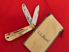 Bowen USA-L L Bean Freeport Me mint bullet two blade STAG trapper knife #506