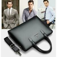 Men Business Travel Pack Leather Briefcase Laptop Bag Shoulder Large Bag Handbag