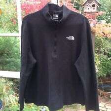 The North Face Men's XL Black 1/4 Zip Fleece Pullover Sweatshirt