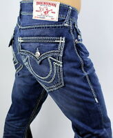 True Religion $329 Hand Picked Straight Mega Super T Jeans - 100096