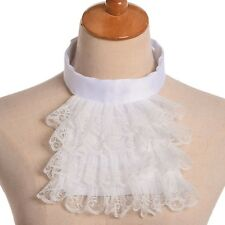 Jabot Collar Victorian Detachable Lace Ruffle White Steampunk Edward Collar