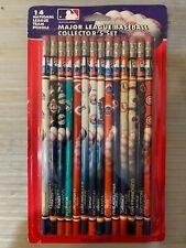 NOS! 1993 Major League Baseball Collectors Team Set 14 Pencils National American