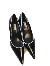 Dune Patent Leather Pointed Toe Cone Heels Shoes Size 39 / 6UK